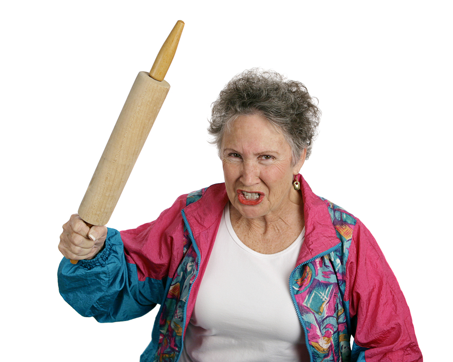 bigstock-Angry-Senior-Lady-With-Rolling-1416319