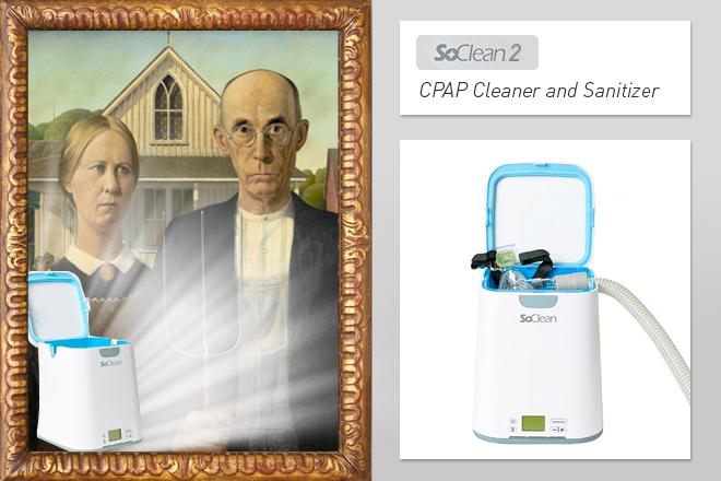 SoClean2-CPAP-Sanitizing-Machine-American-Gothic-Grant-Wood